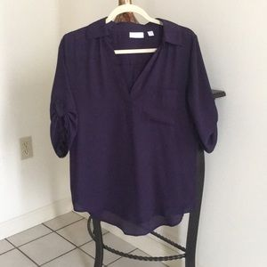 Dress top v-neck (indigo)